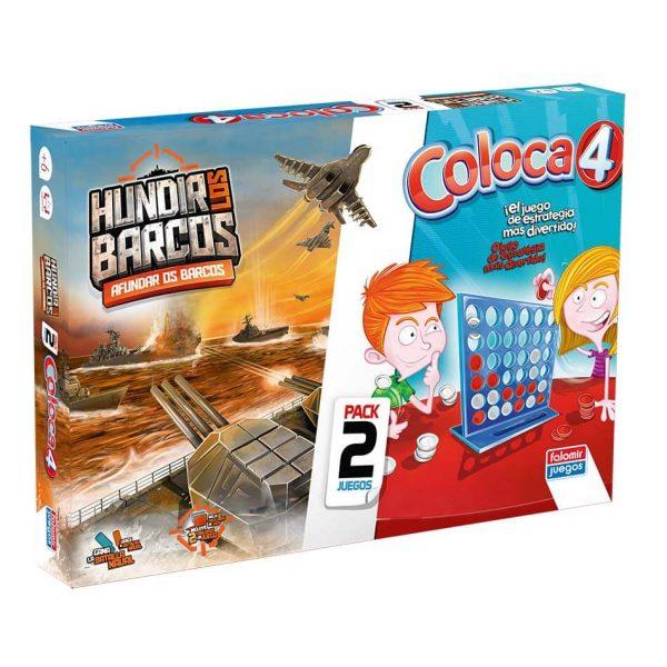 Juego Falomir - Coloca 4 + Hundir Barcos