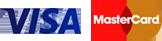 Logotipos de Visa y Master Card